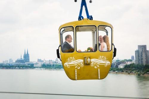 Hochzeit Barbara & Marcus in der Kölner Seilbahn & Rheinpark
