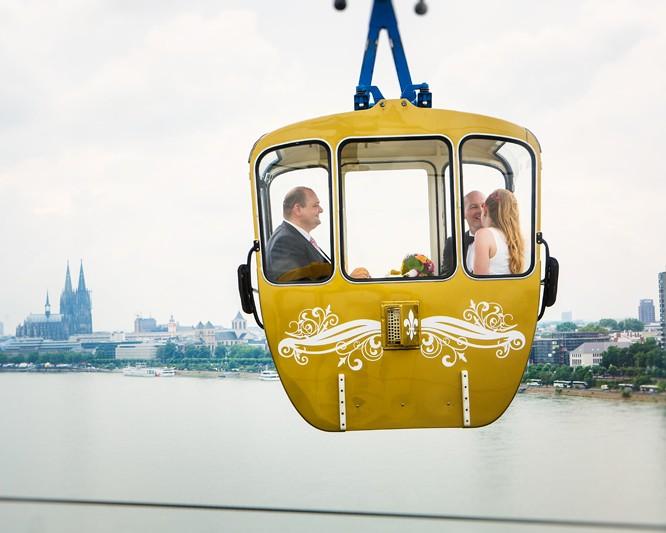 Hochzeit in der Kölner Seilbahn - Barbara & Marcus